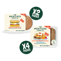 Meatless Mornings Bundle - 6 Packs (2x Sausage Patties, 4x Sausages)